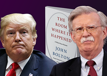 A book by former US National Security Adviser Joe Bolton will go on sale