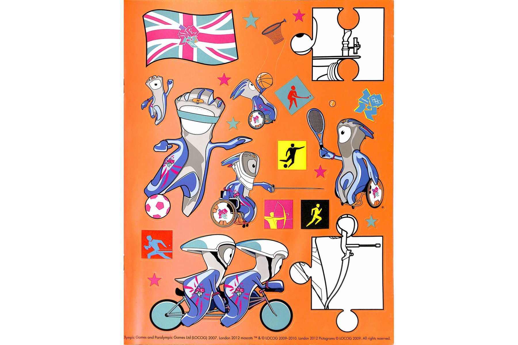 London 2012 Sticker Colouring Book: An Official London 2012 Olympic Games