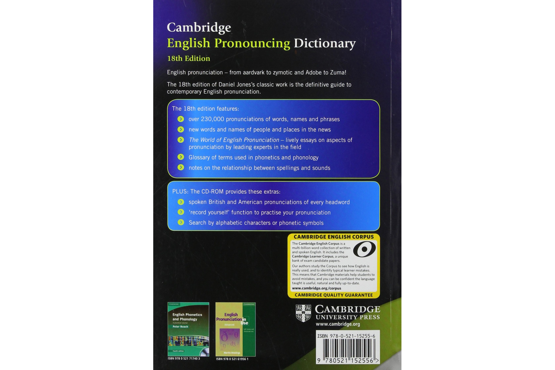 English Pronouncing Dictionary + CD-ROM 18th Edition