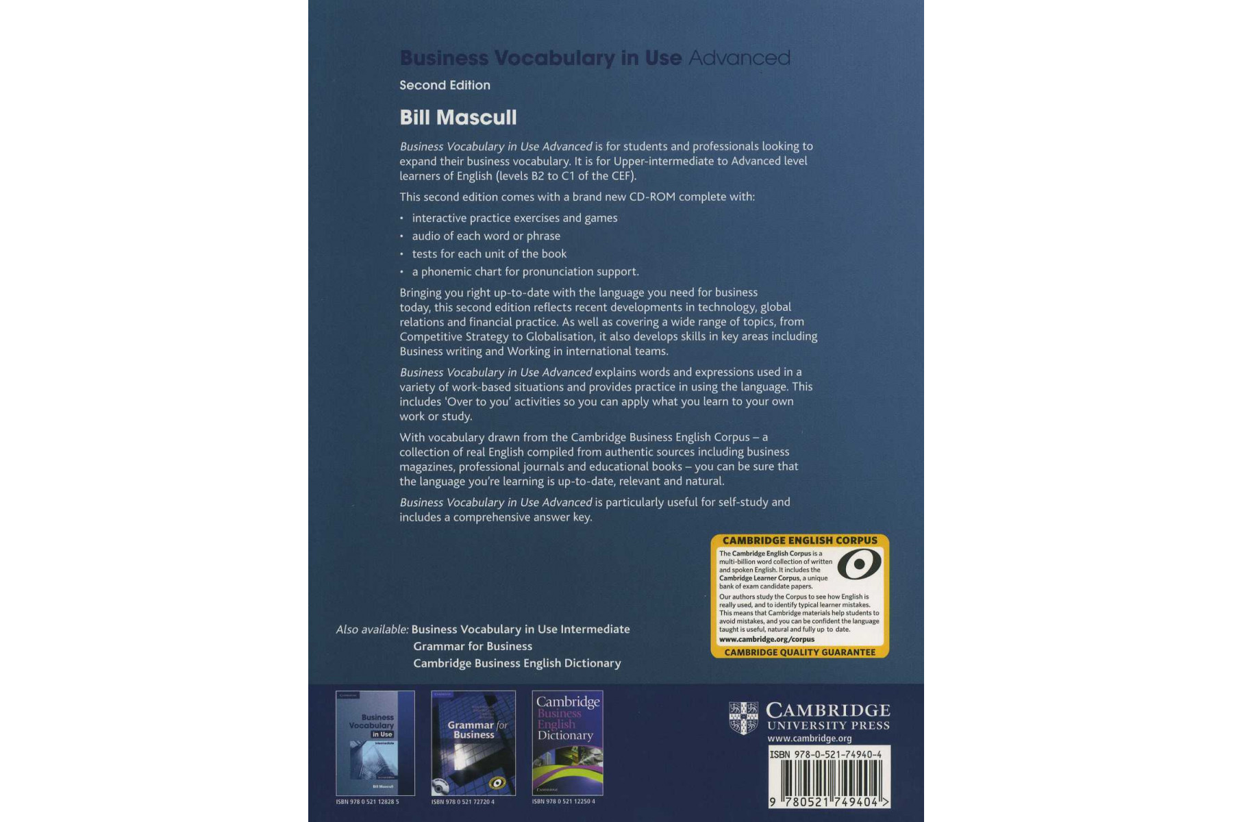 Business Vocabulary in Use: Advanced Second edition