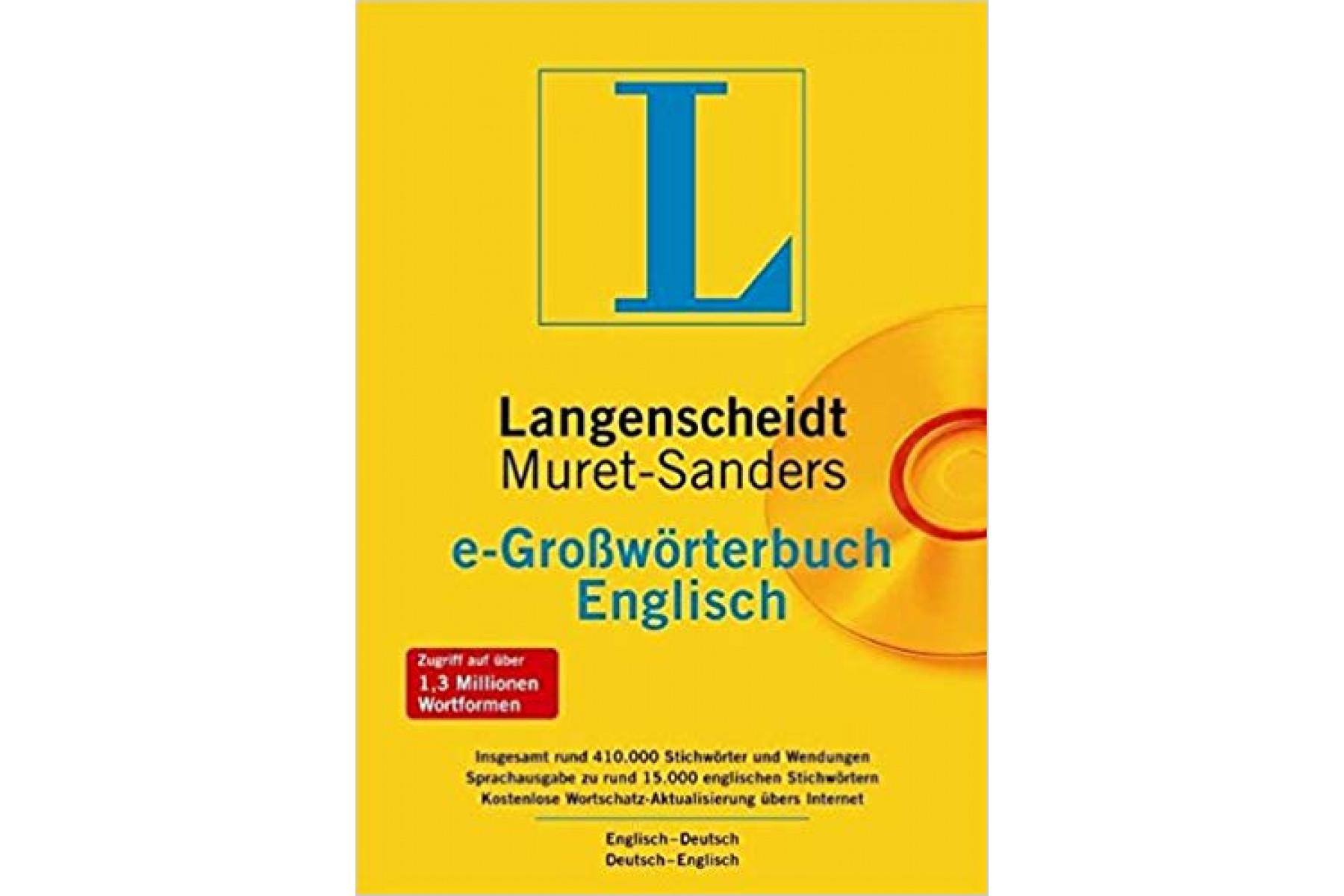 Muret Sanders e-Grossworterbuch Deutsch - Englisch. Langenscheidt. CD-ROM
