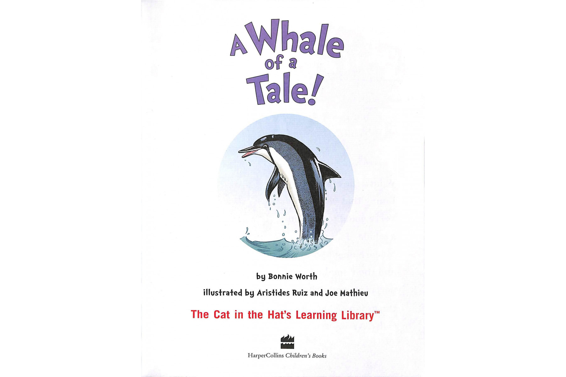Whale of a Tale! (Cat in the Hat's Learning Library)