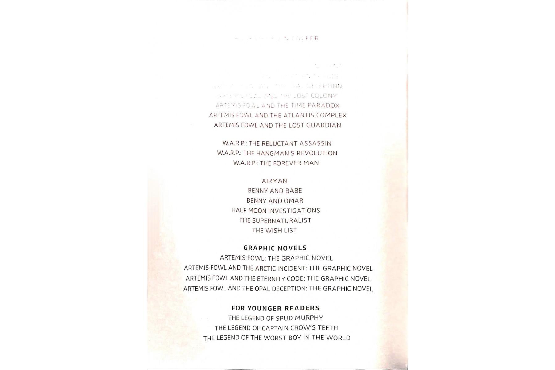 Artemis Fowl. Book 1