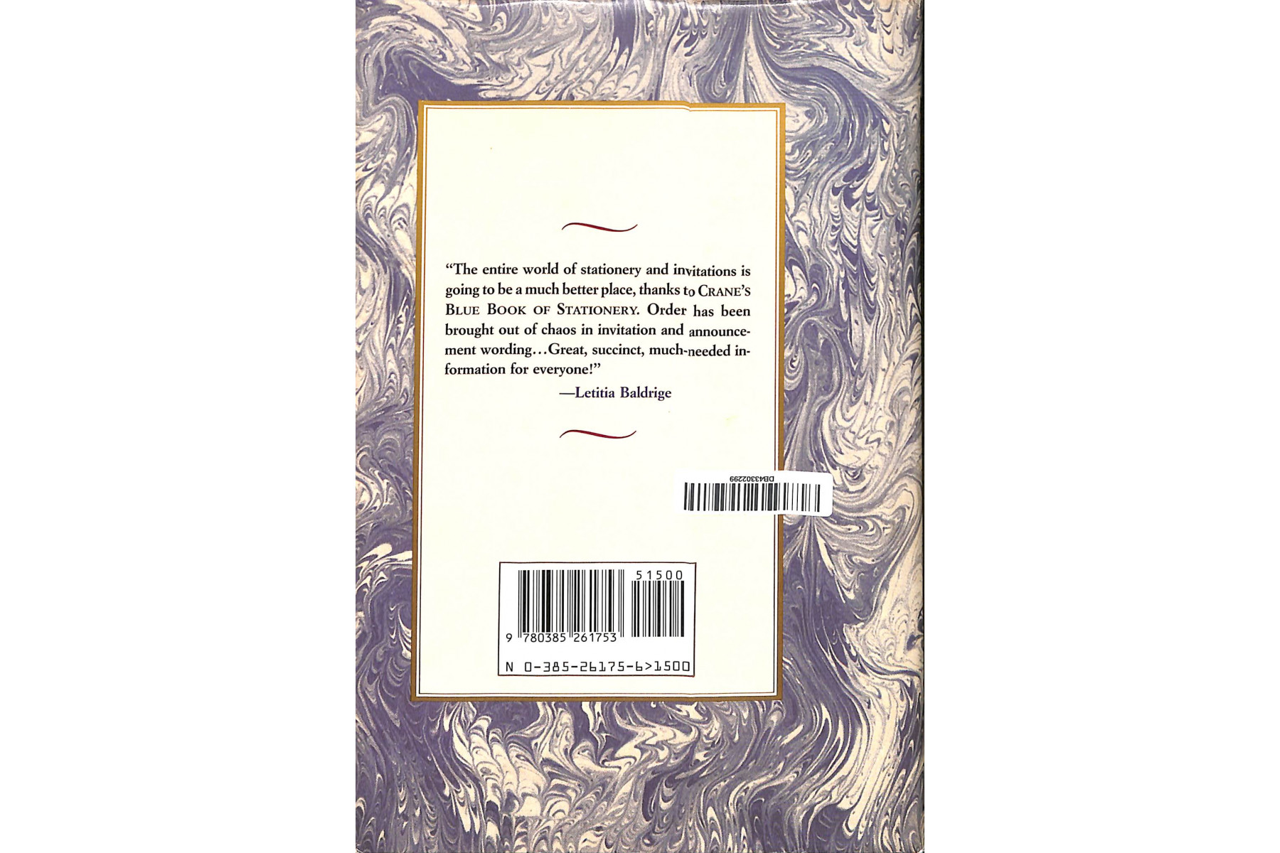 Crane's Blue Book of Stationery: The Styles and Etiquette of Letters, Notes, and Invitations