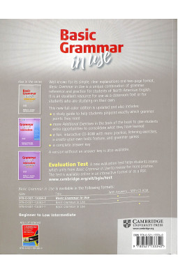 Basic Grammar in Use Student's Book with Answers and CD-ROM