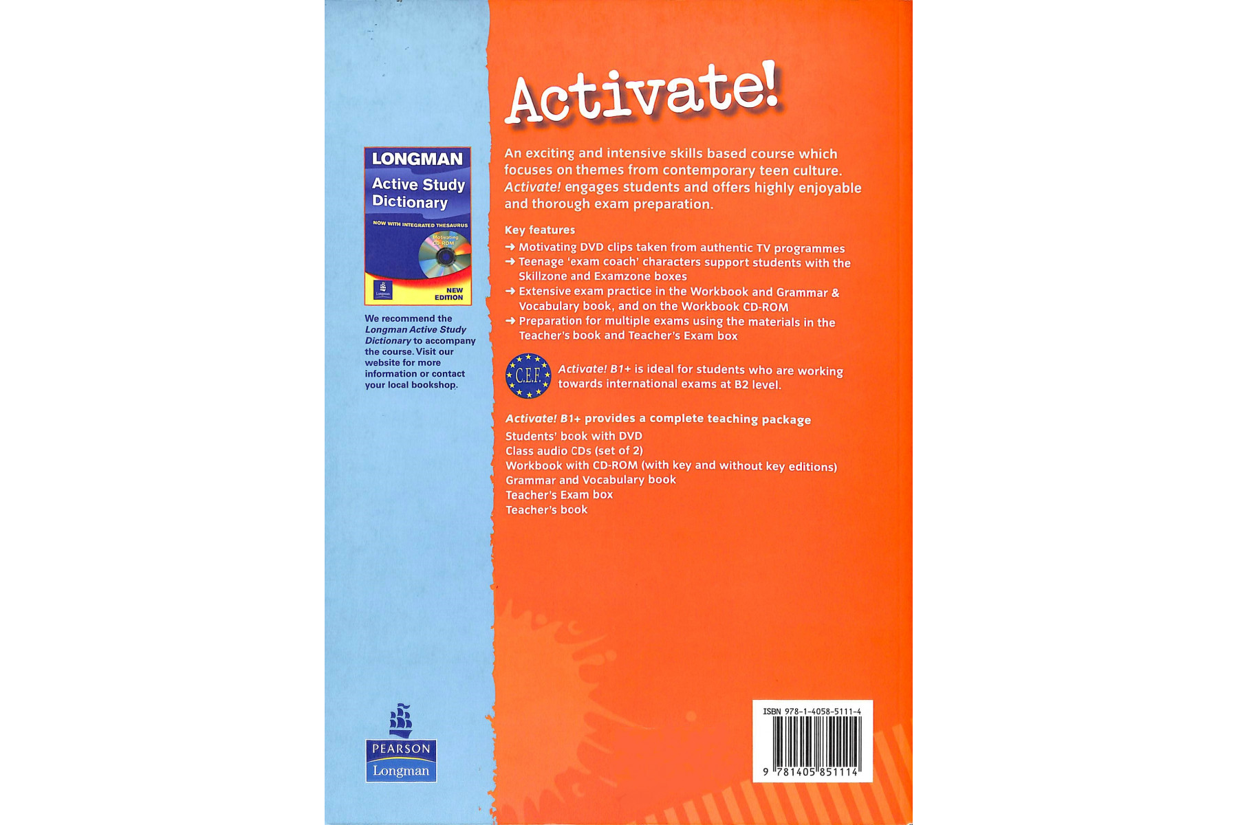 Activate! B1+: Grammar and Vocabulary Book