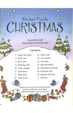 Sticker Puzzle Christmas (Sticker Puzzles)